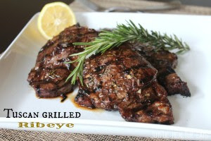 Tuscan Grilled Ribeye from Joyful Healthy Eats
