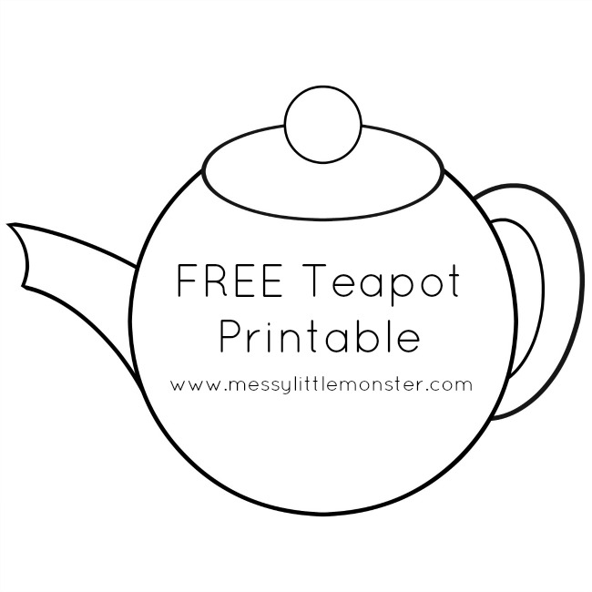 i am a little teapot coloring pages - photo #37