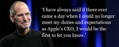 Apple's Steve Jobs abruptly resigns as CEO.