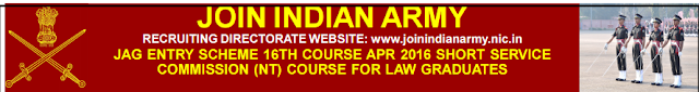 Indian Army Recruitment 2015-SSC LAW Graduates