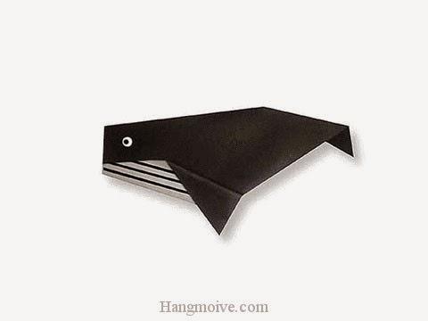 Cách gấp, xếp con cá voi bằng giấy origami - Video hướng dẫn xếp hình sinh vật dưới nước - How to fold a Whale