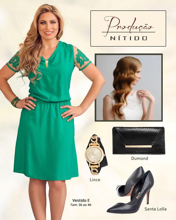 Look Nítido com penteado