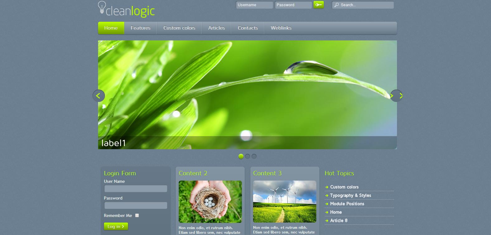 CleanLogic Free Responsive Joomla Template