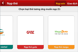 cach nap win bang the mega trong game iwin