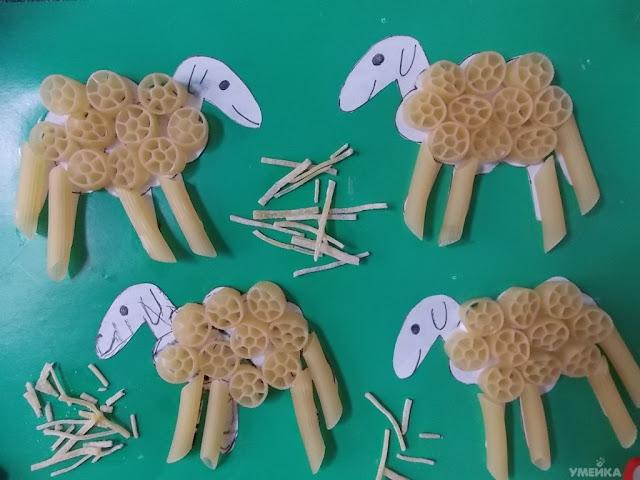 Поделки из макарон в детском саду