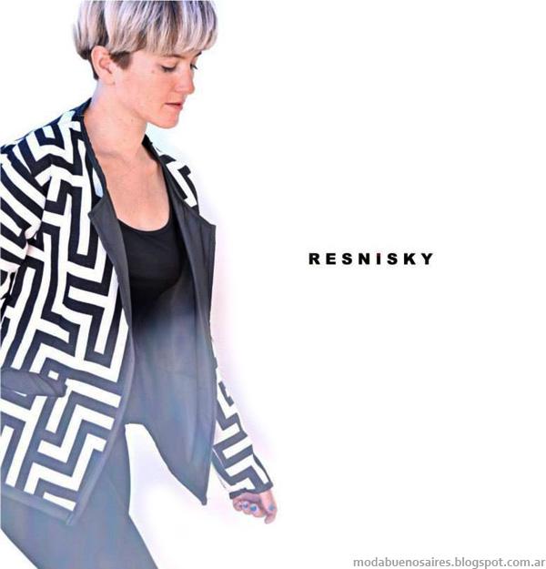 Moda invierno 2014-Diseño de la marca Resnisky, moda sustentable y diseño de autor, Argentina.