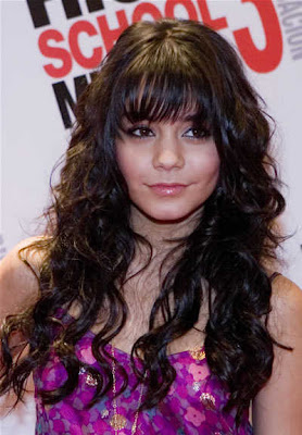 Vanessa Hudgens long curly hairstyles