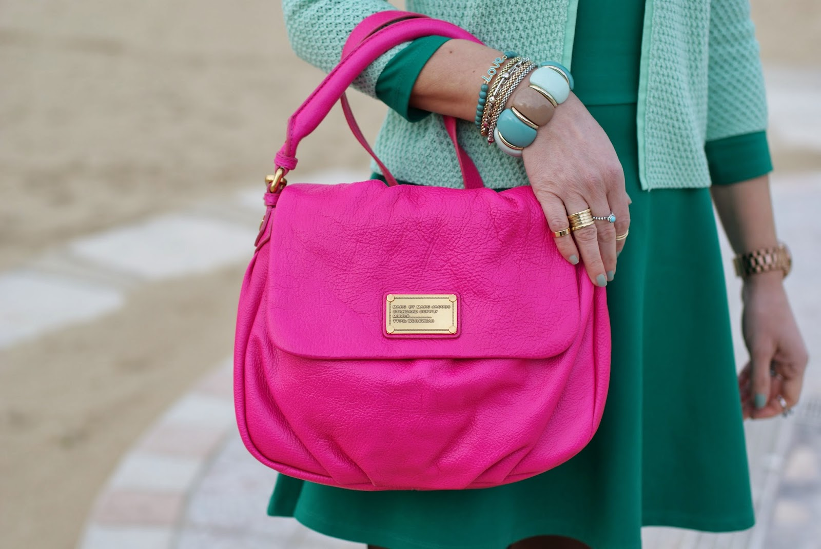 Marc by Marc Jacobs lil ukita bag, pop pink little ukita Fashion and Cookies, fashion blogger