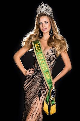 A Miss Brasil Marthina Brandt concorre neste domingo - Divulgação