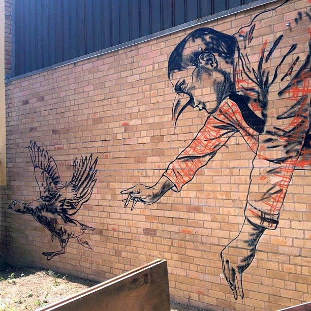 """Missing Keys"" New Mural By Fintan Magee On The Streets Of Brisbane, Australia. 3"