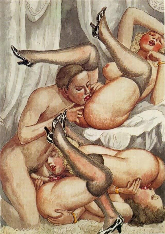 рисунки порно секс