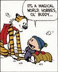 Calvin and Hobbes Snowmen Cake - Calvin and Hobbes on Sled Comic Strip Frame by Bill Waterson