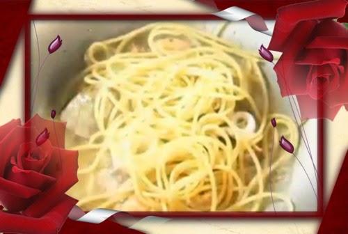 Menu Berbuka dan Bersahur - Nasi mentega dan ikan goring kicap, Spaghetti Seafood Aglio-Olio, Mee Kari