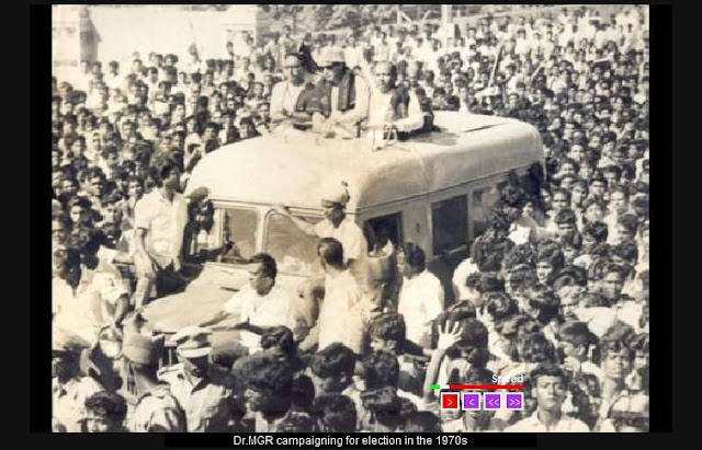 Dr. MGR Campaigning for Election in the 1970's