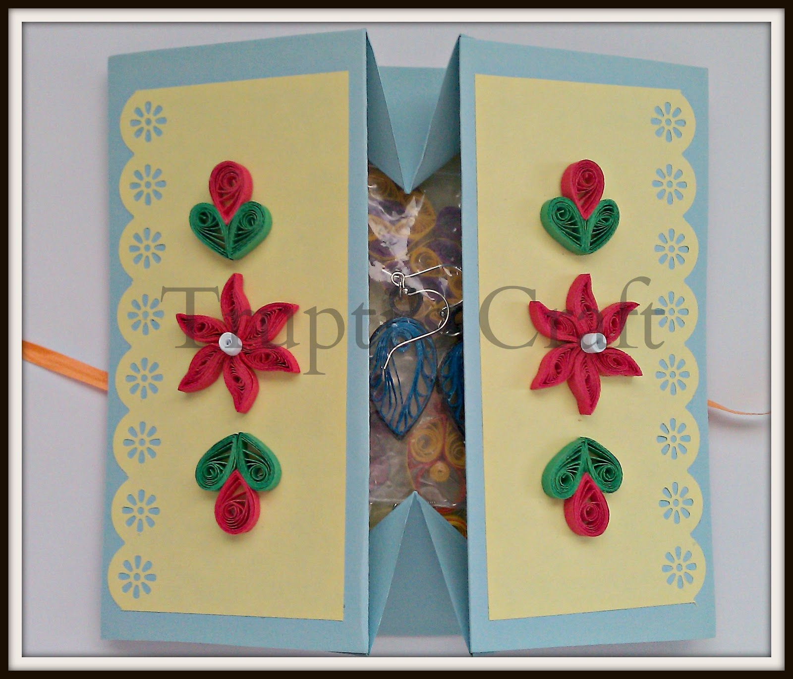 Trupti 39 s craft greeting card cum gift box for Image craft greeting cards