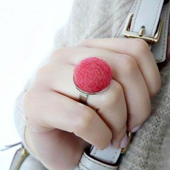 diy felted wool ring