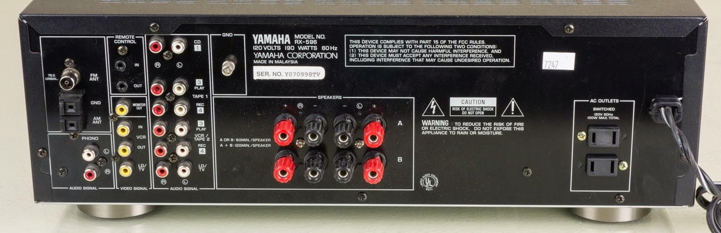 yamaha rx 596 stereo receiver audiobaza. Black Bedroom Furniture Sets. Home Design Ideas