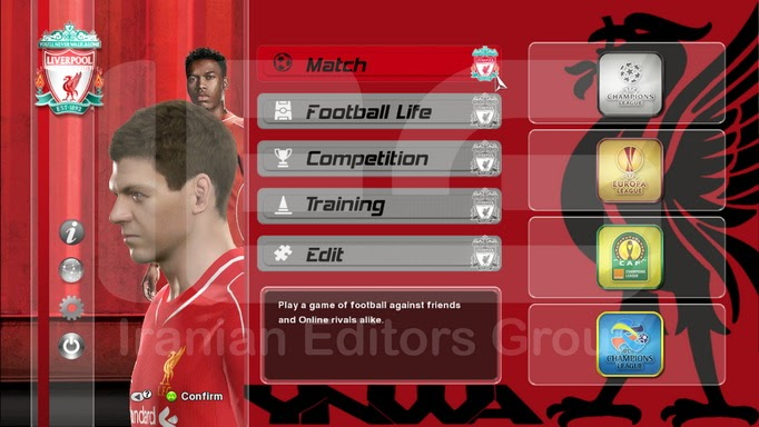 PES 2014 Liverpool FC Graphic Mode By SRT
