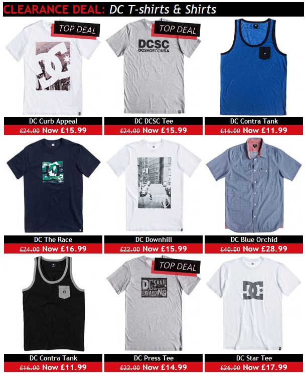 Cheap DC t shirts