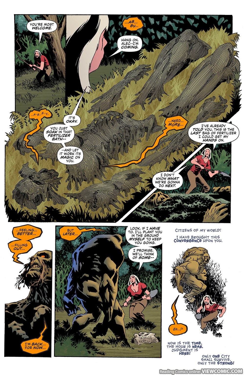 Convergence swamp thing 001 2015 for The thing free online