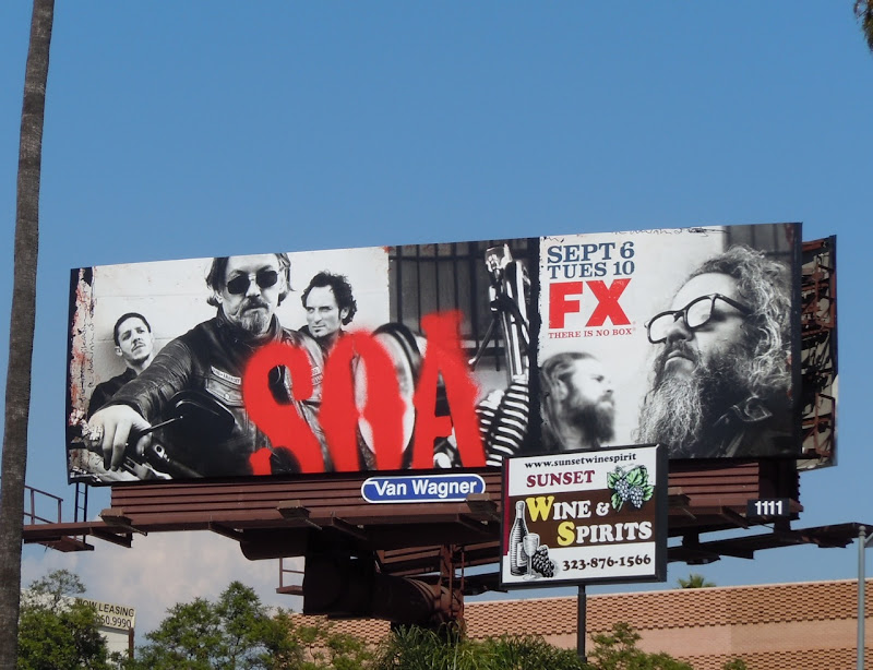 Sons of Anarchy 4 FX billboard