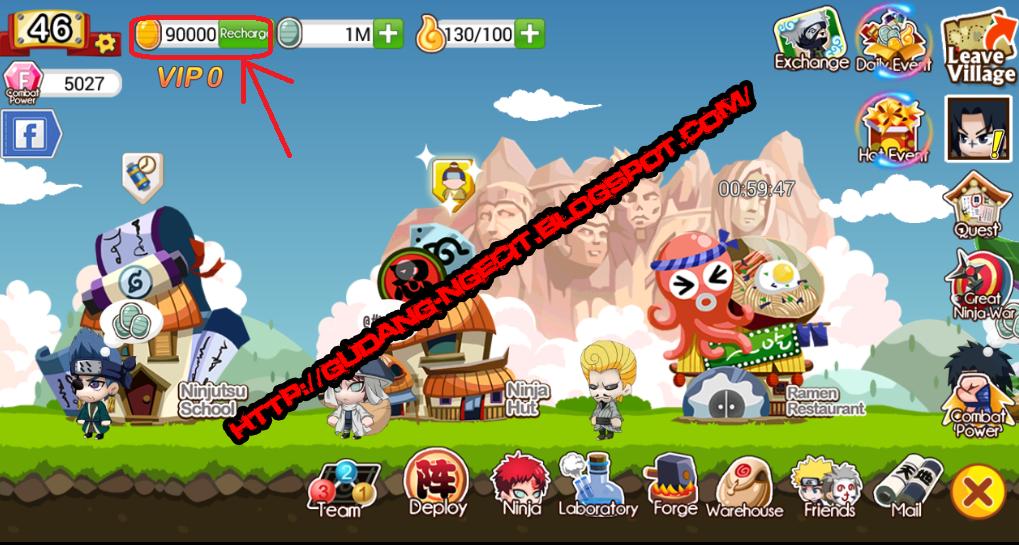 Cheat Ninja Heroes Android Gold Hack | Gudang-Ngecit