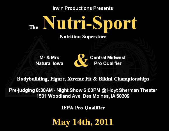 Nutri-Sport Central Midwest IFPA Pro Qualifier NANBF 2011 Nutrisport2011