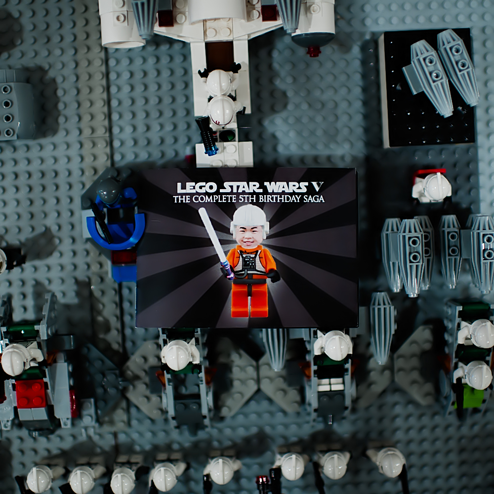 Pure joy events lego star wars birthday party for Star wars decorations