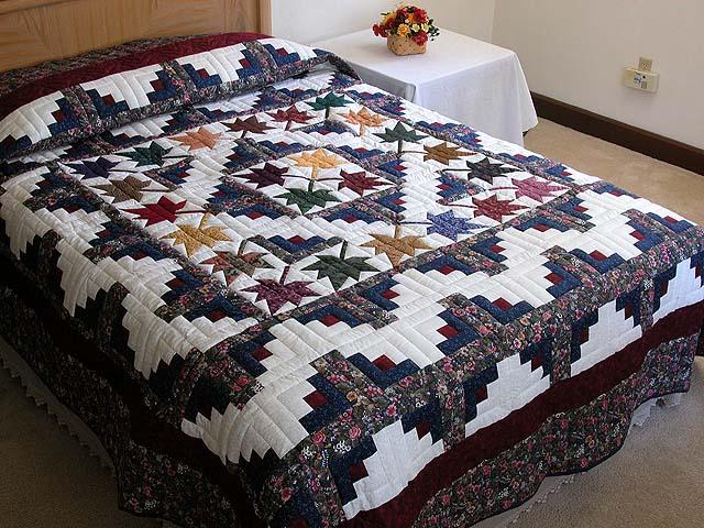 Log Cabin Quilts ~ Autumn vanilla picture splendor quilt pattern