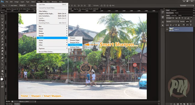 Tutorial Photoshop Menggunakan Smart Shartpen untuk Mempertajam Foto