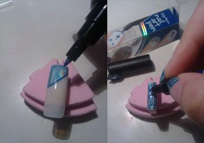 tutorial nail art effetto marmo03