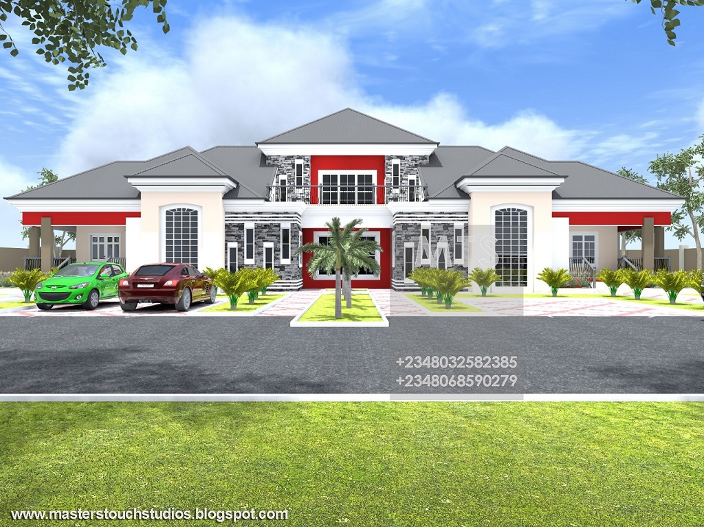 Ghanian client 5 bedroom bungalow residential homes and for 4 bedroom bungalow house designs