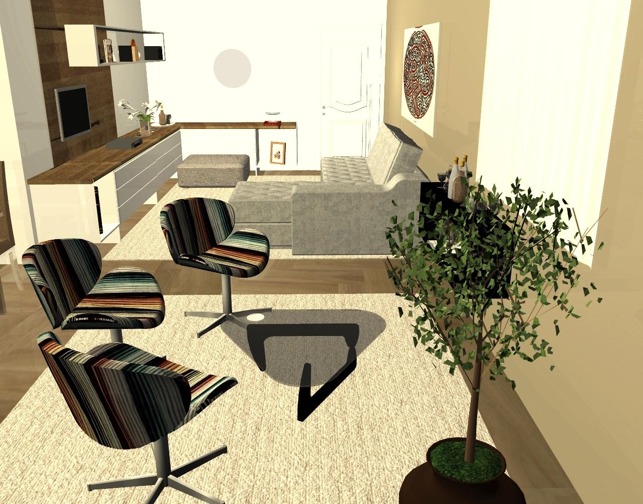apartamento decorado..living cozinha banheiro salão de festas #AD971E 1280x1005 Banheiro Autocad 3d