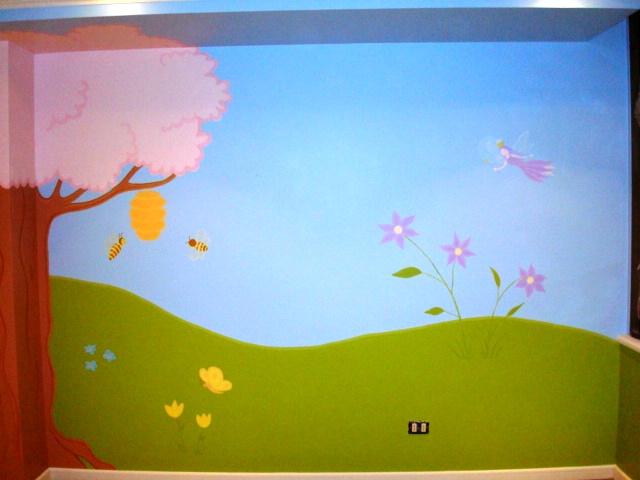 Murales de paisajes infantiles imagui for Murales infantiles