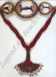 The original bazuband in which Ranjit Singh when the Koh-I-Noor diamond. When the diamond was removed in 1852 for re-cutting to Western tastes, the bazuband was fitted with a paste replica.