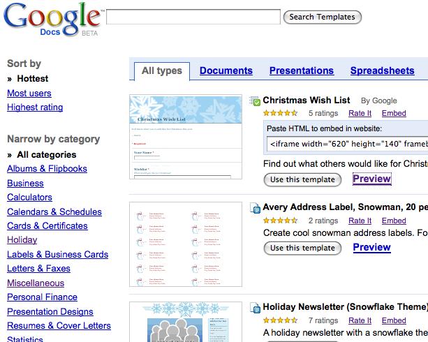 Send Christmas Gifts Using Google Docs Techno Blog - Google docs for personal use