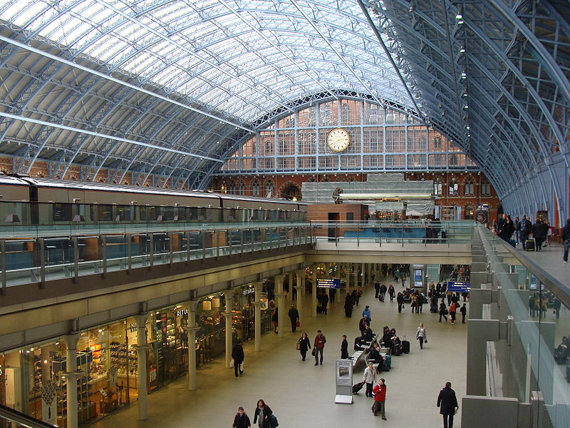 st pancras railway station or st pancras international train terminal. Black Bedroom Furniture Sets. Home Design Ideas