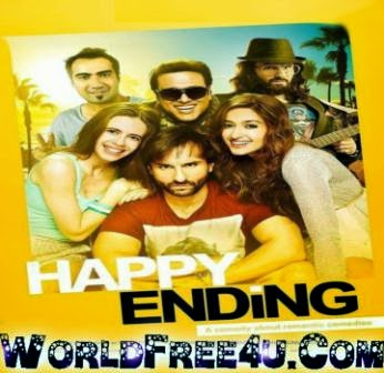 Poster Of Bollywood Movie Happy Ending (2014) 300MB Compressed Small Size Pc Movie Free Download worldfree4u.com
