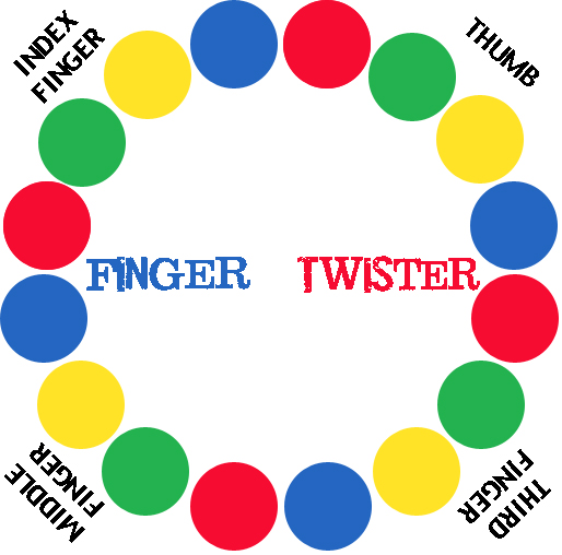 image regarding Twister Spinner Printable identified as Later on Gator Crafts: Finger Twister