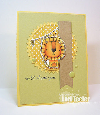 Wild About You card-designed by Lori Tecler/Inking Aloud-stamps from Reverse Confetti