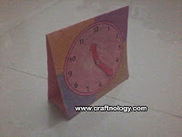 Let's make paper table clock for kids