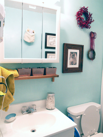 light blue wall beach bathroom themed decorating ideas  bathroom, Home design