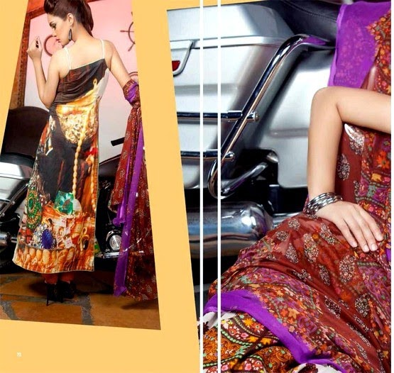 La Reina Digital Lawn Dresses Collection 2014 by Shariq