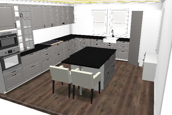 Vi bygger i Øvre Sveberglia: IKEA kjøkken