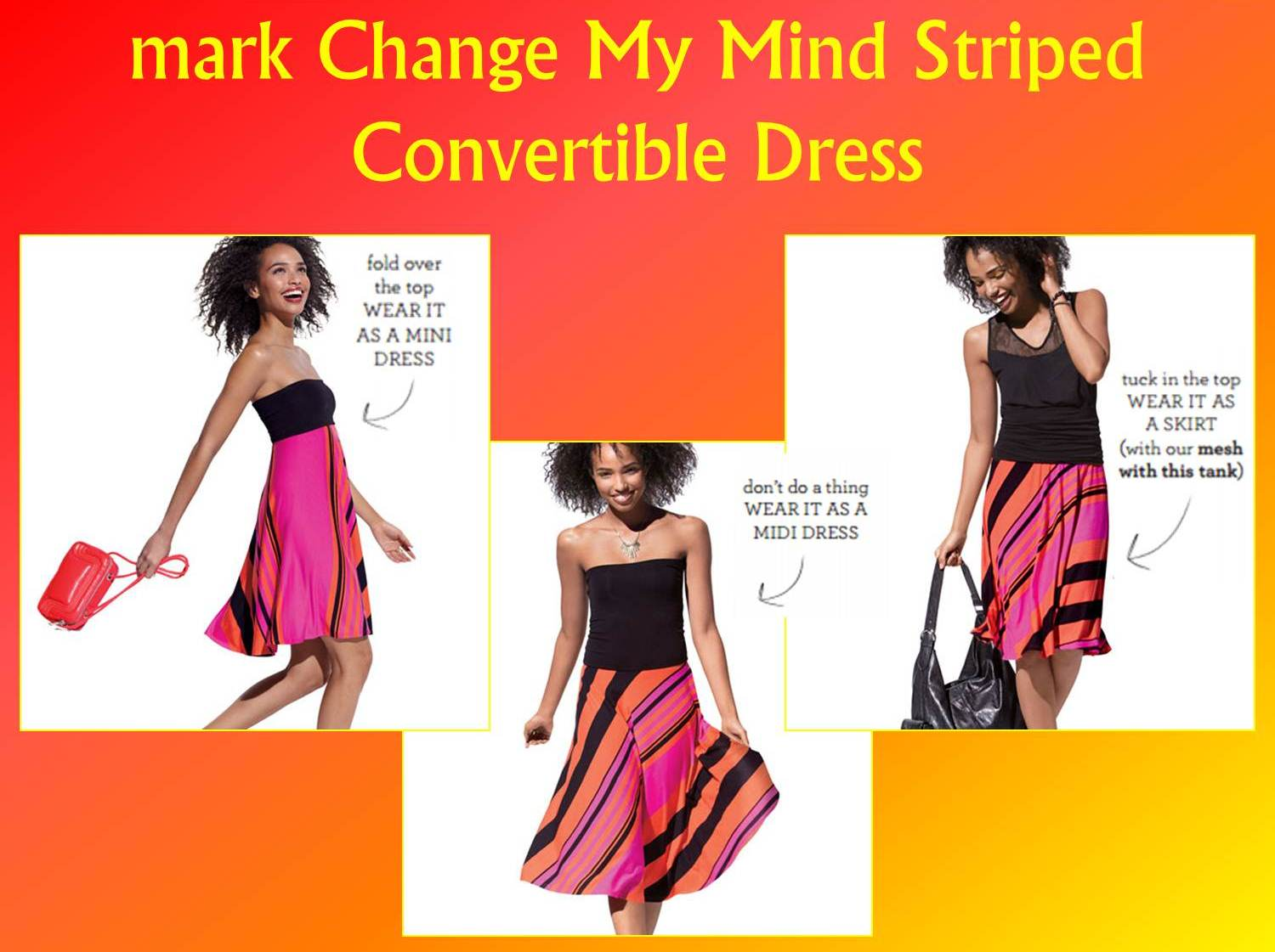 Convertible Mini Dress