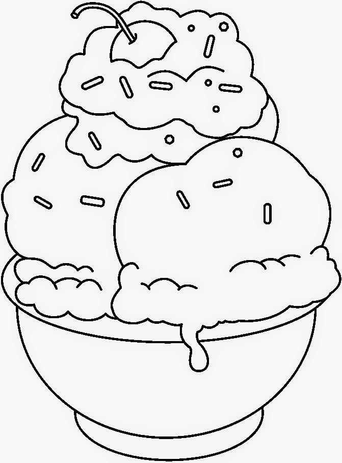 Gambar Makanan Dan Minuman Kartun Hitam Putih Aku Ruhana