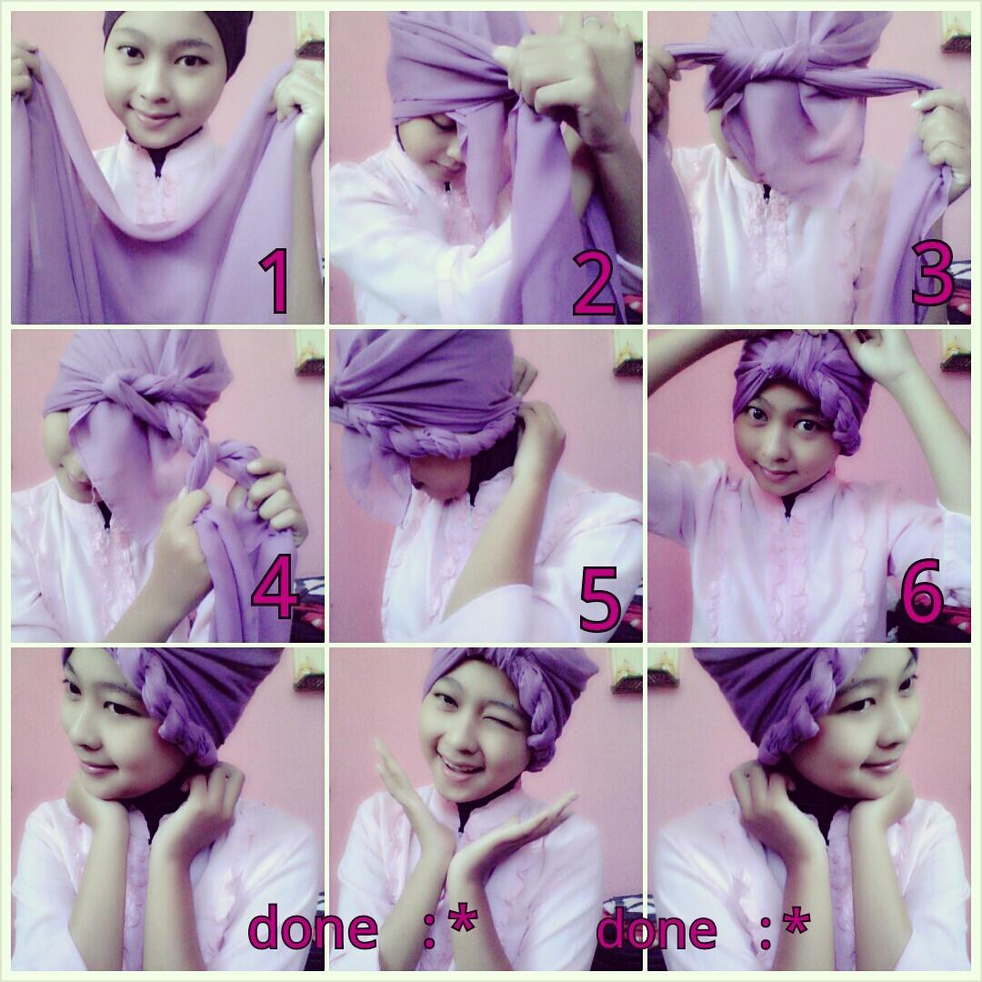 16 Tutorial Jilbab Paris Jadi Turban Tutorial Hijab Terbaru
