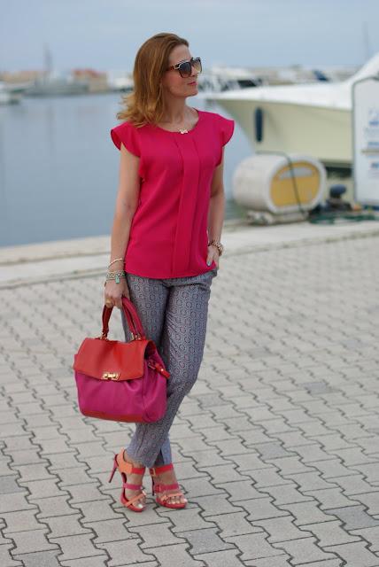 Zara fuchsia top, Asos metallic pants, Fashion and Cookies