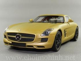 Xe mô hình tĩnh Mercedes-Benz SLS AMG 2010 hiệu Minichamps tỉ lệ 1:18