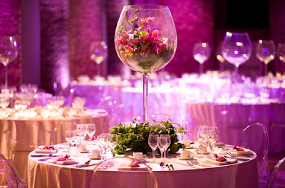 Elegant Pink Wedding Table Centerpieces